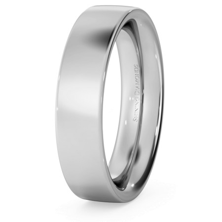 Flat Court Wedding Ring - Heavy weight, 5mm width - HWNC521