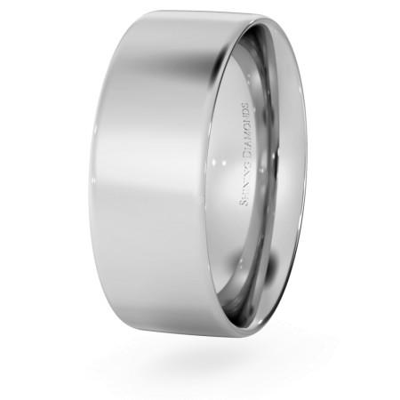 Flat Court Wedding Ring - 7mm width, Thin depth - HWNC713