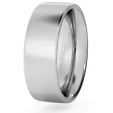 Flat Court Wedding Ring - Heavy weight, 7mm width - HWNC721
