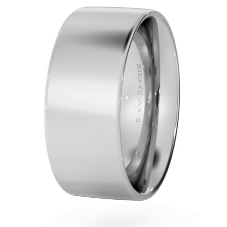 Flat Court Wedding Ring - 8mm width, Medium depth - HWNC817