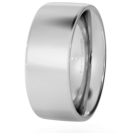 Flat Court Wedding Ring - Heavy weight, 8mm width - HWNC821