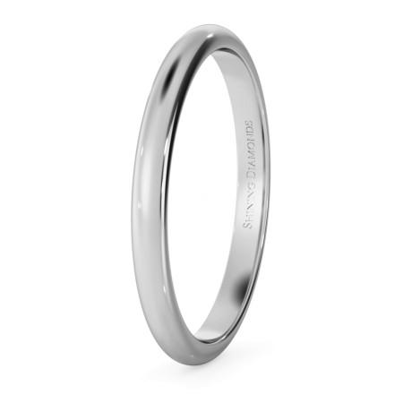 D Shape Wedding Ring - Lightweight, 2mm width - HWND213