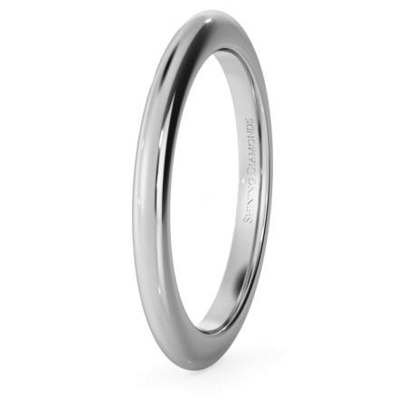 D Shape Wedding Ring - Heavy weight, 2mm width - HWND221