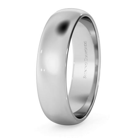 D Shape Wedding Ring - Lightweight, 5mm width - HWND513