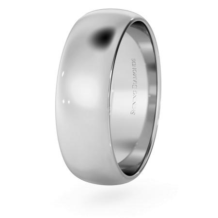 D Shape Wedding Ring - Lightweight, 6mm width - HWND613