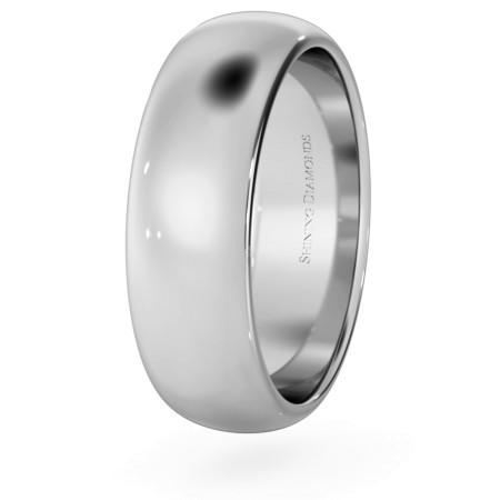 D Shape Wedding Ring - 6mm width, Medium depth - HWND617