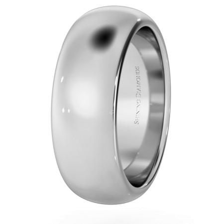 D Shape Wedding Ring - Heavy weight, 7mm width - HWND721