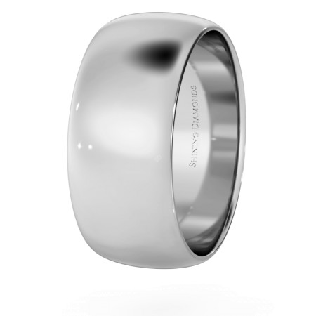 D Shape Wedding Ring - Lightweight, 8mm width - HWND813