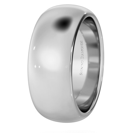D Shape Wedding Ring - Heavy weight, 8mm width - HWND821