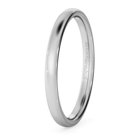 Traditional Court Wedding Ring - Lightweight, 2mm width - HWNE213
