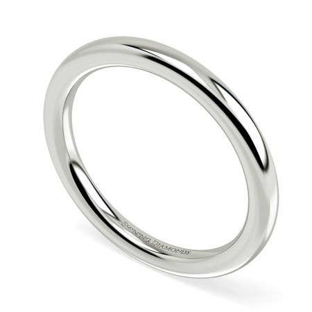 Traditional Court Wedding Ring - Heavy weight, 2.00mm Ring size K - HWNE221RN2315