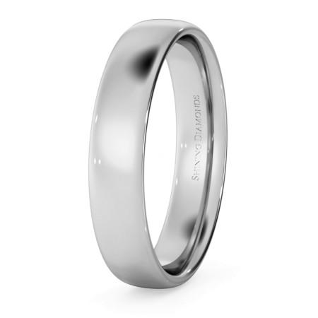Traditional Court Wedding Ring - Lightweight, 4mm width - HWNE413