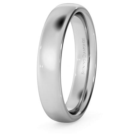 Traditional Court Wedding Ring - 4mm width, Medium depth - HWNE417