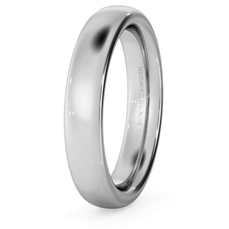 Traditional Court Wedding Ring - Heavy weight, 4mm width - HWNE421