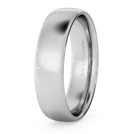 Traditional Court Wedding Ring - Lightweight, 5mm width - HWNE513