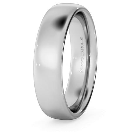 Traditional Court Wedding Ring - 5mm width, Medium depth - HWNE517