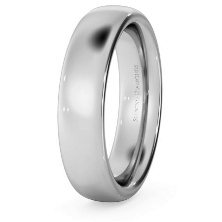 Traditional Court Wedding Ring - Heavy weight, 5mm width - HWNE521