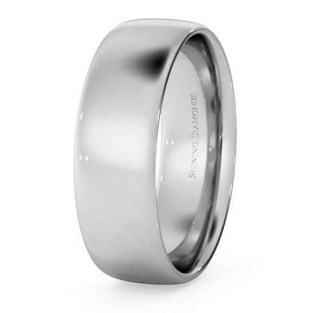 Traditional Court Wedding Ring - Lightweight, 6mm width - HWNE613