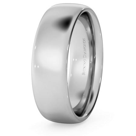 Traditional Court Wedding Ring - 6mm width, Medium depth - HWNE617