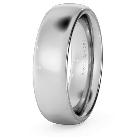 Traditional Court Wedding Ring - Heavy weight, 6mm width - HWNE621