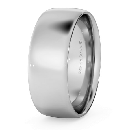 Traditional Court Wedding Ring - Lightweight, 7mm width - HWNE713