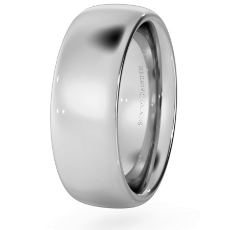Traditional Court Wedding Ring - Heavy weight, 7mm width - HWNE721