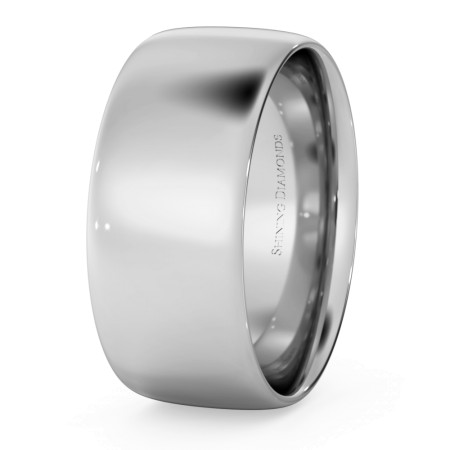 Traditional Court Wedding Ring - Lightweight, 8mm width - HWNE813