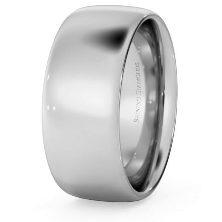 Traditional Court Wedding Ring - 8mm width, Medium depth - HWNE817
