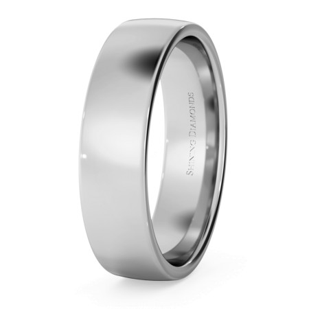 Slight Court with Flat Edge Wedding Ring - Light weight, 5mm width - HWNJ513