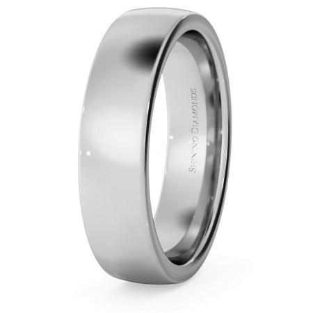 Slight Court with Flat Edge Wedding Ring - 5mm width, 1.7mm depth - HWNJ517