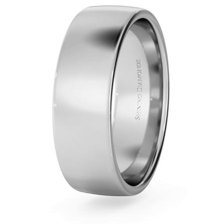 Slight Court with Flat Edge Wedding Ring - Light weight, 6mm width - HWNJ613