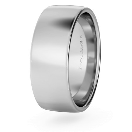 Slight Court with Flat Edge Wedding Ring - Light weight, 7mm width - HWNJ713