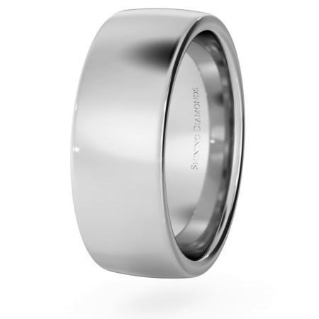Slight Court with Flat Edge Wedding Ring - 7mm width, Medium depth - HWNJ717