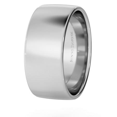 Slight Court with Flat Edge Wedding Ring - Light weight, 8mm width - HWNJ813