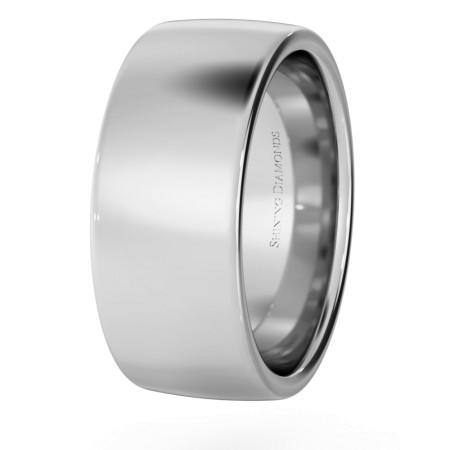 Slight Court with Flat Edge Wedding Ring - 8mm width, Medium depth - HWNJ817