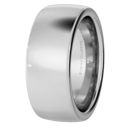 Slight Court with Flat Edge Wedding Ring - 8mm width, 2.3mm depth - HWNJ821