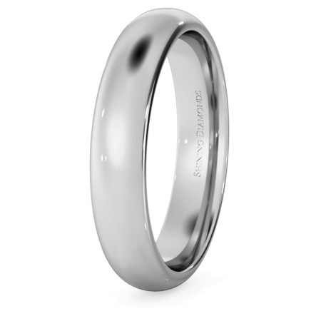 D Court Wedding Ring - 4mm width, 1.8mm depth - HWNP417