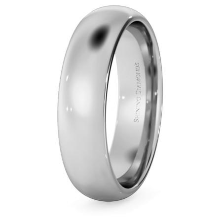 D Court Wedding Ring - 5mm width, 1.8mm depth - HWNP517
