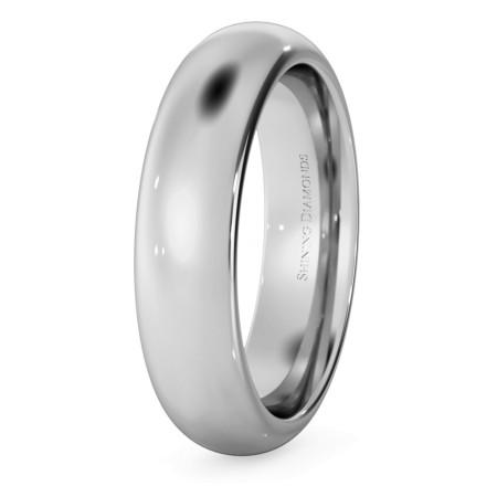 D Court Wedding Ring - 5mm width, 2.3mm depth - HWNP521