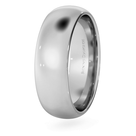 D Court Wedding Ring - 6mm width, 1.8mm depth - HWNP617