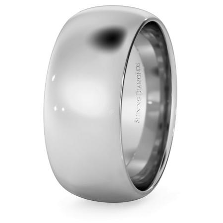 D Court Wedding Ring - 8mm width, 1.8mm depth - HWNP817