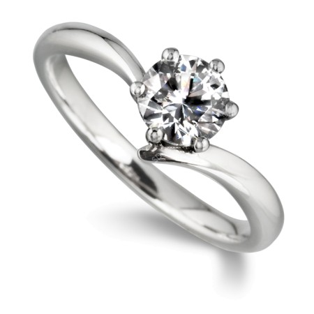 Round Diamond Engagement Ring 0.3ct F SI1 - HRR21BAT1
