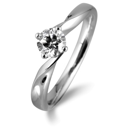 Round Diamond Engagement Ring 0.30ct F SI2 - HRR22BAT1