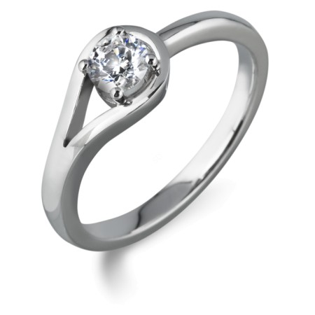 Round Diamond Engagement Ring 0.26ct G VS2 - HRR23BAT1