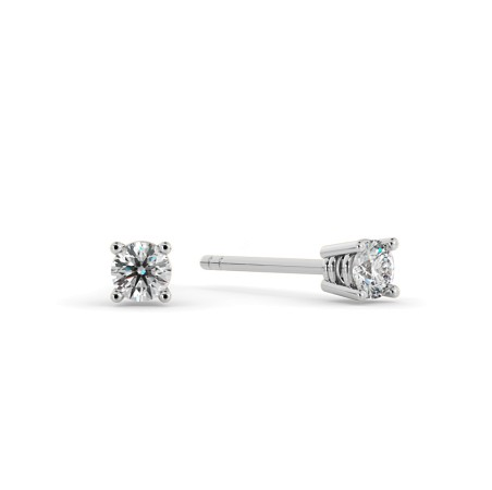 0.20ct Round cut Stud Diamond Earrings - HER94