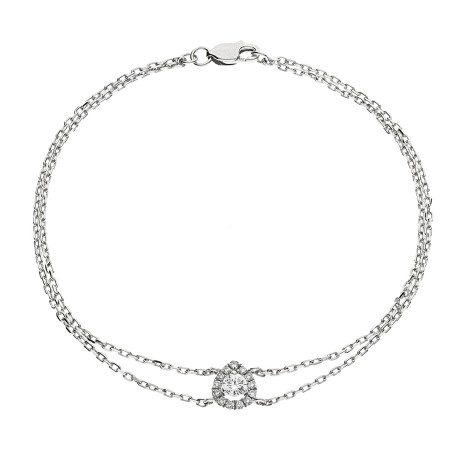 Pear Shape Delicate Diamond Bracelet - HBRDR037
