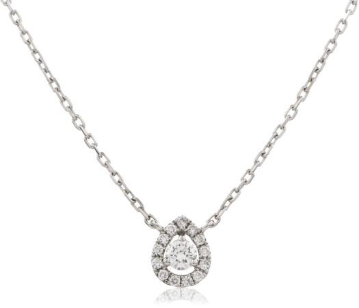 Round cut Designer Diamond Pendant - HPR152
