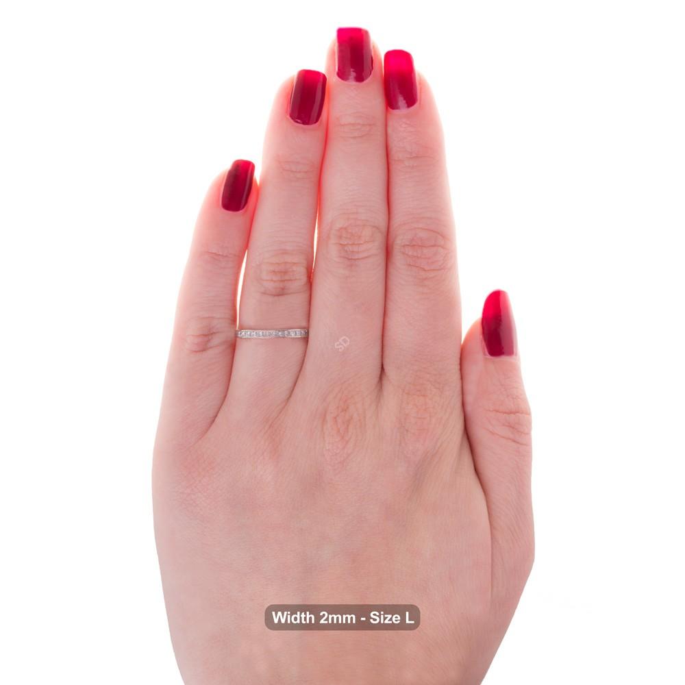 Cepheus Princess Cut Full Eternity Ring Shining Diamonds