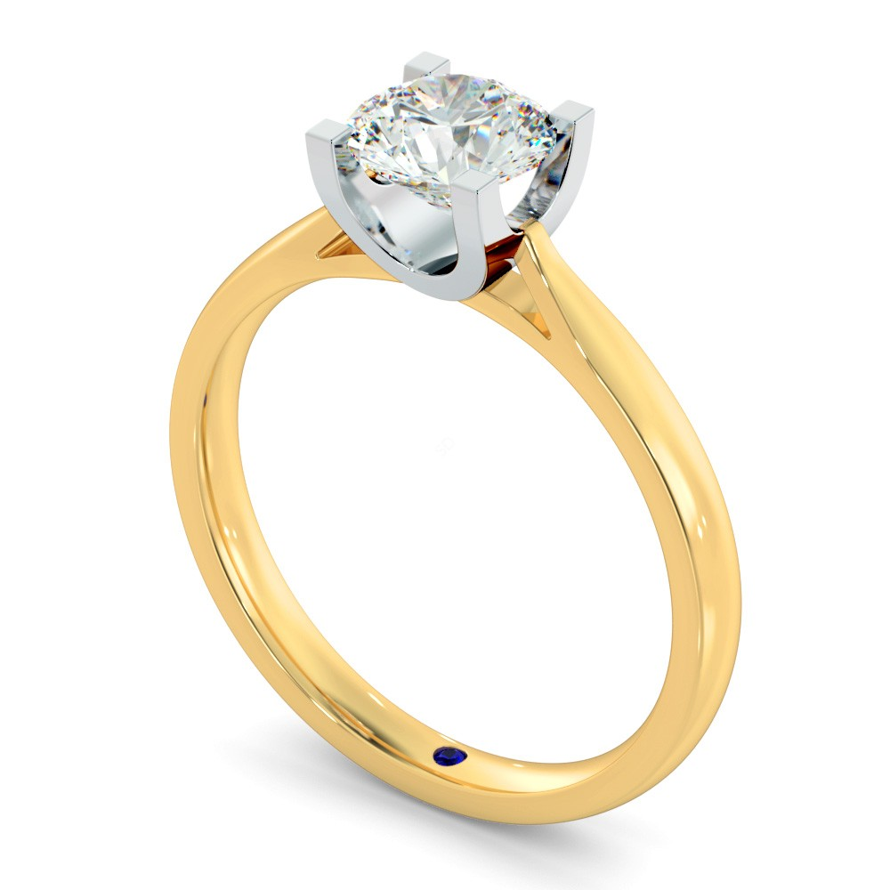 Hrr273 High Setting Round Cut Solitaire Diamond Ring