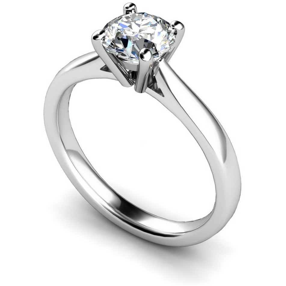 sterling silver in classic white prong plated tapered gold engagement rings ring p over four